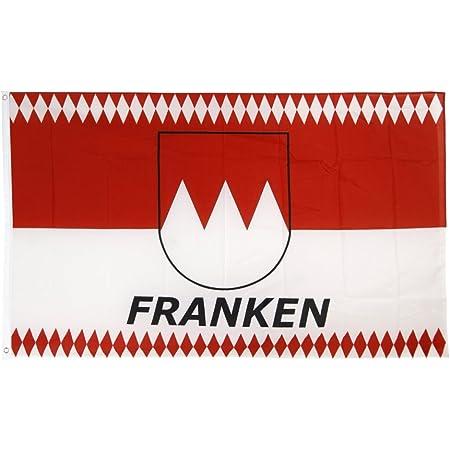 Flaggenfritze Fahne/Flagge Deutschland Franken Raute + gratis Sticker