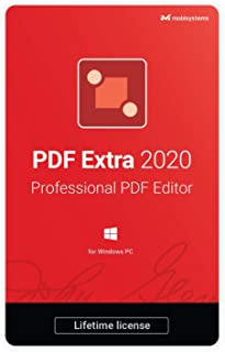 PDF Extra 2020 - Professional PDF Editor – Edit, Protect, Annotate, Fill and Sign PDFs - 1 Windows PC/ 1 User / Lifetime Subscription