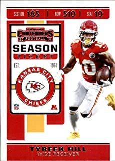 2019 Panini Contenders #40 Tyreek Hill Kansas City Chiefs Football Card