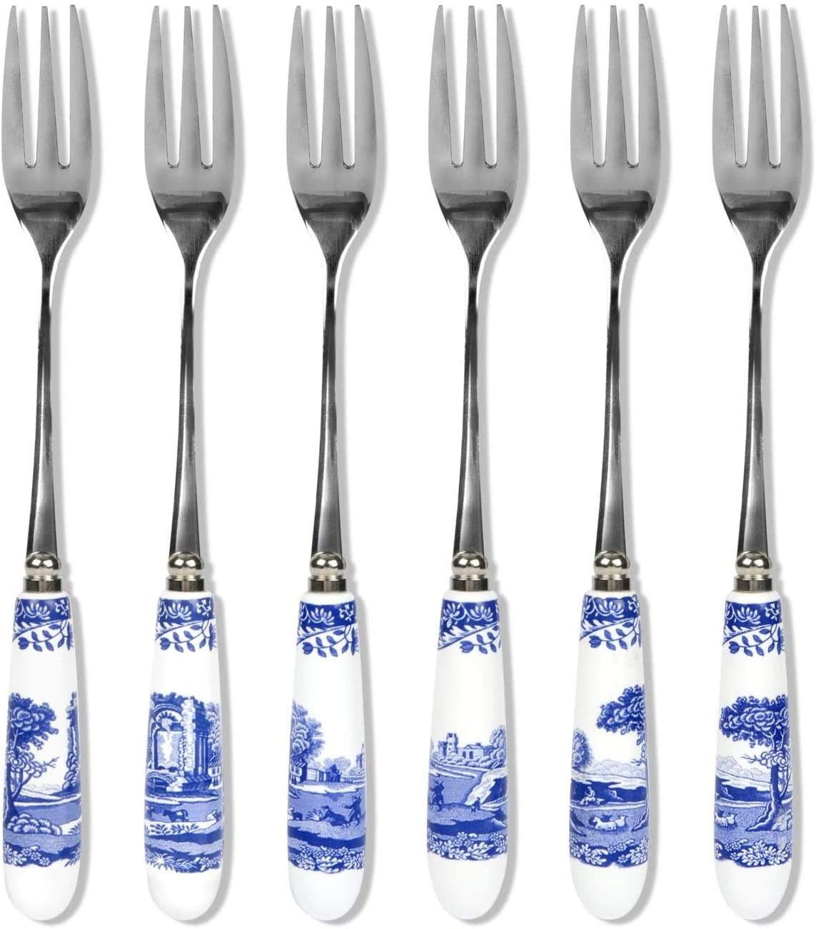 Spode Blue Italian Set Pastry New Orleans Mall of Forks 6 Super popular specialty store