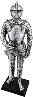 Veronese Silver Finish Medieval Knight In Armor Statue Figure Armour