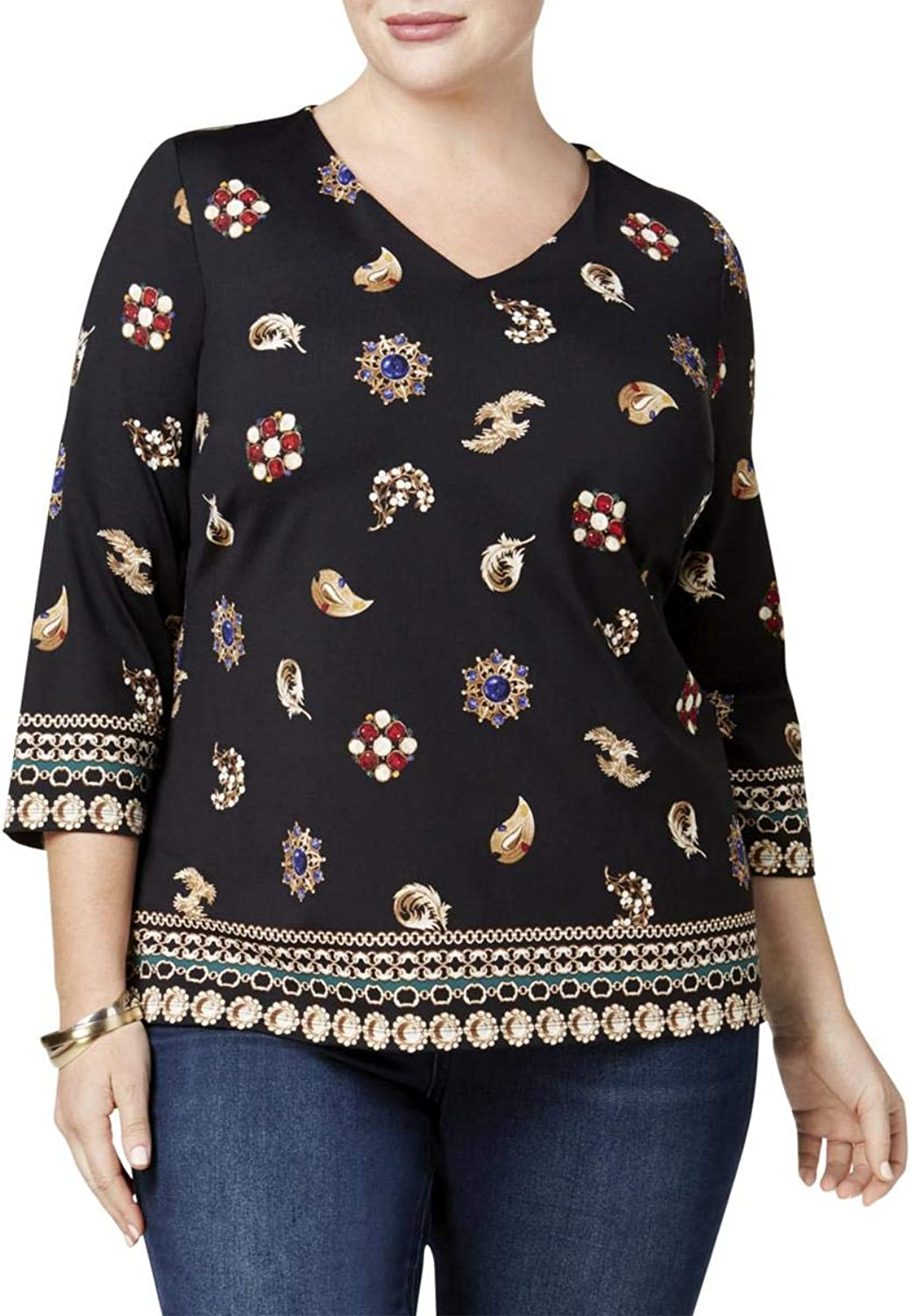 Charter Club Plus Size Printed Top
