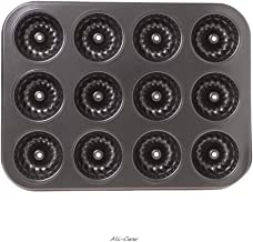 1Pc 12-cavity Fluted Cake Pan Extra Thick Bundt Non Stick Biscuit Brownie Doughnut Baking Mold Baking Tools