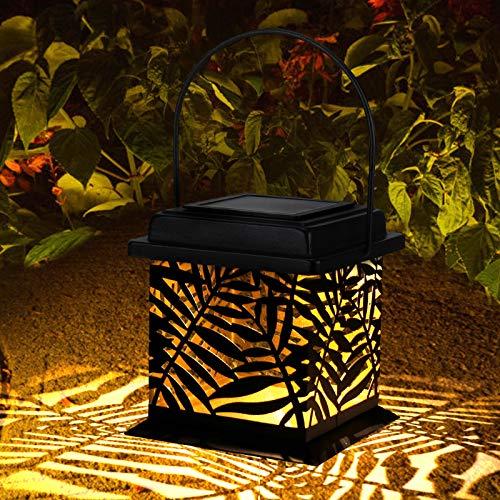 Farol Solar Exterior, Orelpo Luz Solar Exterior Jadin IP44 Impermeable, Lampara LED Solar Vintage para Decoracion Jardin, Patio, Terraza, Césped, Arboles, Fiesta, Navidad