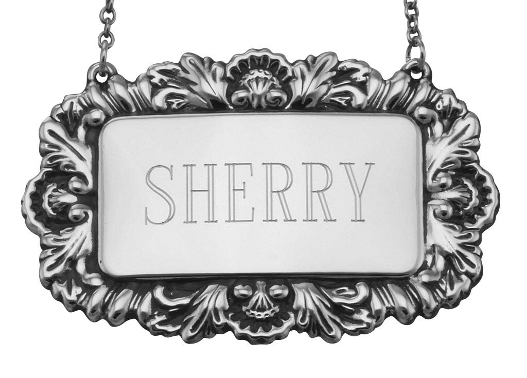 Sherry Liquor Decanter Label Silver - Our shop OFFers the best service Sterling Ranking TOP9 Tag