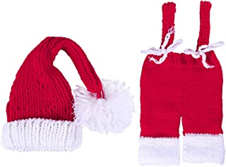 SUPVOX Newborn Costumes Photography Prop Outfits Hat Pants for Favor 0-1 Month Babies (red)