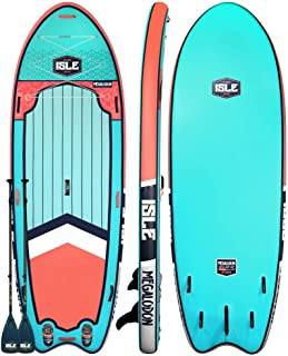 "ISLE Surf & SUP Megalodon | 12' & 15' Inflatable Stand Up Paddle Board | 8"" Thick iSUP and Bundle Accessory Pack 
