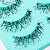 Dorisue Wispy eyelashes Brown lashes Natural looking false eyelashes Lightweight Reuseable 5 Pair Set X4