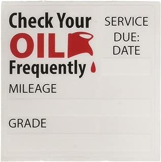 1 X Oil Change/Service Reminder Stickers 50 Stickers