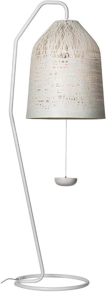 Karman black out, lampada da terra con stelo e paralume in vetroresina bianco, da esterno HP1012B EXT
