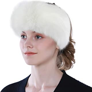 JoyJon Faux Fur headband Hat with Elastic for Women Winter Earwarmer Earmuff