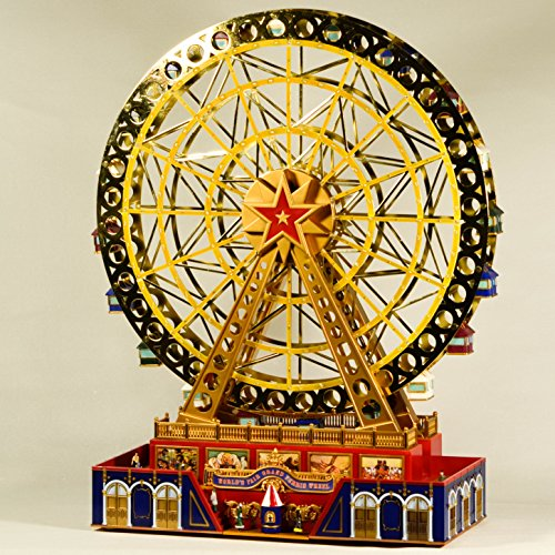 EliteTreasures Mr. Christmas Musical World's Fair Grand Ferris Wheel - Mr Christmas Gold Label Collection Novelty Christmas Decoration - Music Animation Decor Ornament - Mr Christmas Music Box