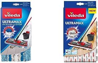 Vileda - Housse Micro & Coton pour Balai à Plat - Ultramax & Recharge Balai à Plat Officielle Compatible UltraMax/Ultrama...