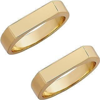 2 قطعة الحد الأدنى الذهب الشرير خواتم مكتنزة للنساء الفتيات العصرية هندسية جولة حلقات سميكة كومة أنثى مجوهرات الزفاف هدية