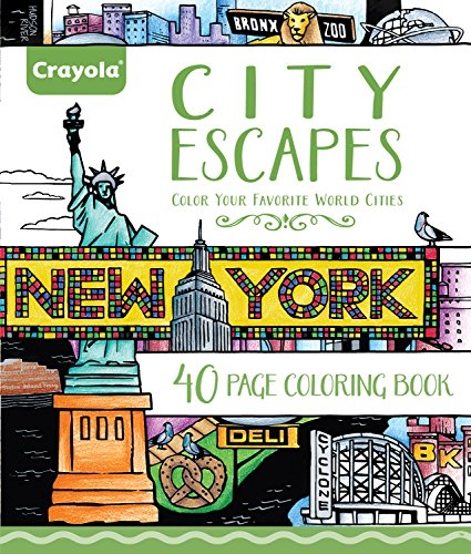 Crayola City Escapes Coloring Pages, Gift for Teens & Adult Coloring Enthusiasts, 40pgs