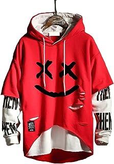 Hello MrLin Men's Techwear Hip Hop Hoodie Japanese Streetwear Patchwork Urban Jumper