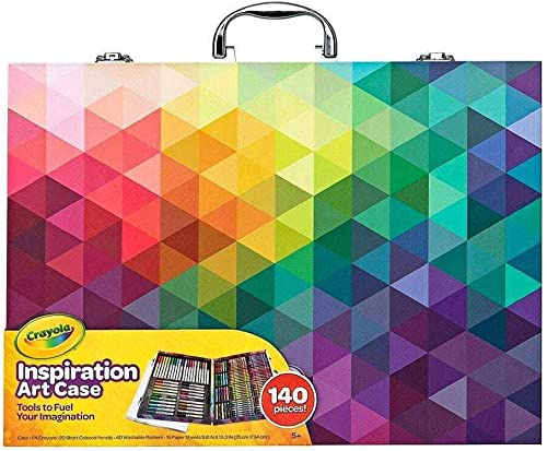 CRAYOLA 230926 Inspiration Art Case: 140 Pieces, Deluxe Set with Crayons, Pencils, Markers and Paper in a Portable St...