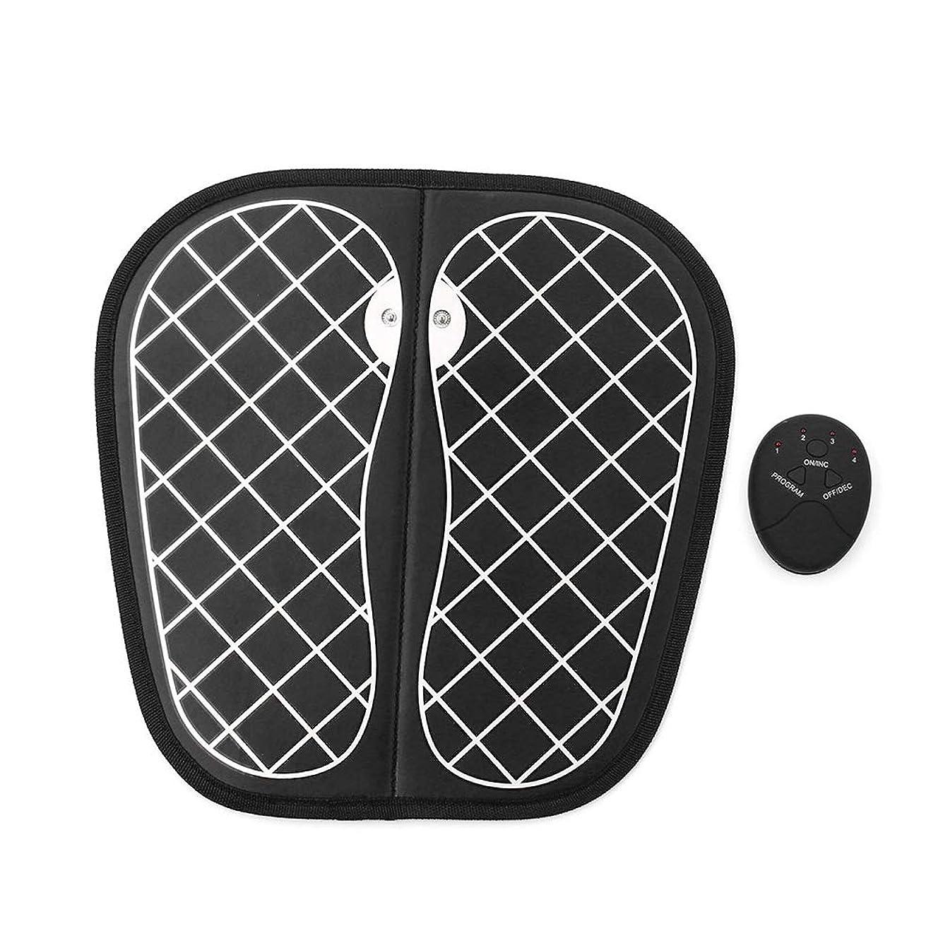 窓偶然電子EMSフットマッサージャー、折りたたみ携帯用電気マッサージマット、電子筋肉理学療法マッサージ器は、血液循環を改善します
