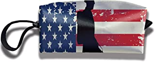 RZM YLY 1960's American Soldier Print Lightweight Cosmetic Pouch Bag Cute Jewelry Pouch Travel Cosmetic Bag Pouch with Zipper