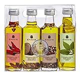 Aceite de Oliva Virgen Extra - Estuche 4 Condimentos (4 x 100 ml)