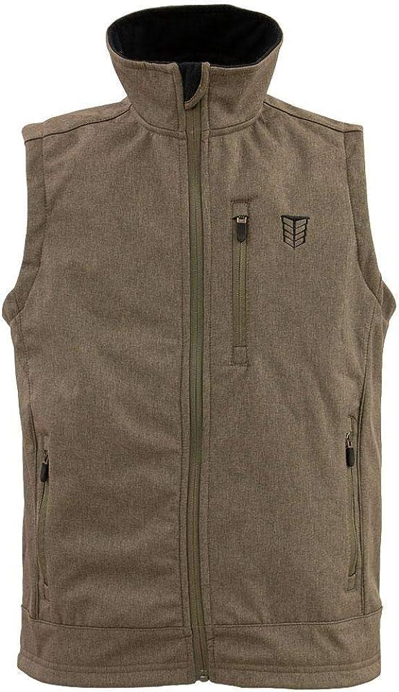 Tempco Men's Slim Fit Heather Softshell Vest - TM211-KHAKI