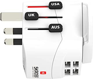 Skross Universele reisstekker met 4 USB-poorten