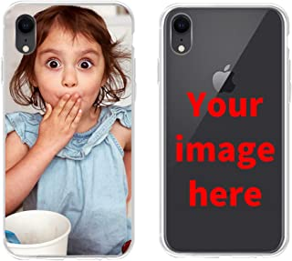 Custom Phone Case for iPhone XR, Personalized Photo Phone Case, Soft Protective TPU Bumper, Customized Cover Add Image Painted Print Text Logo Picture
