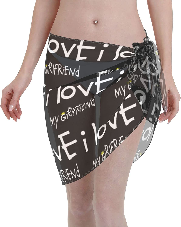 Puerto Rico Flag Women Short Sarongs Beach Wrap Sheer Bikini Wraps Chiffon Cover Ups for Swimwear