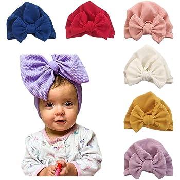 Newborn Baby Mädchen Elastic Blumen Beanie Wrap Cap Infant Turban Hut Stirnband