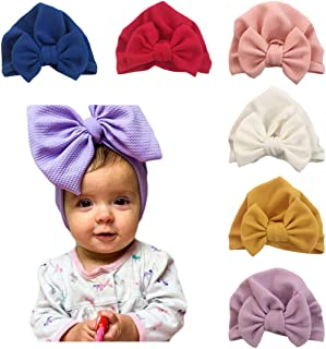 Baby Girl Hat with Bow Hat Toddlers Soft Turban Knotting Hats Cap