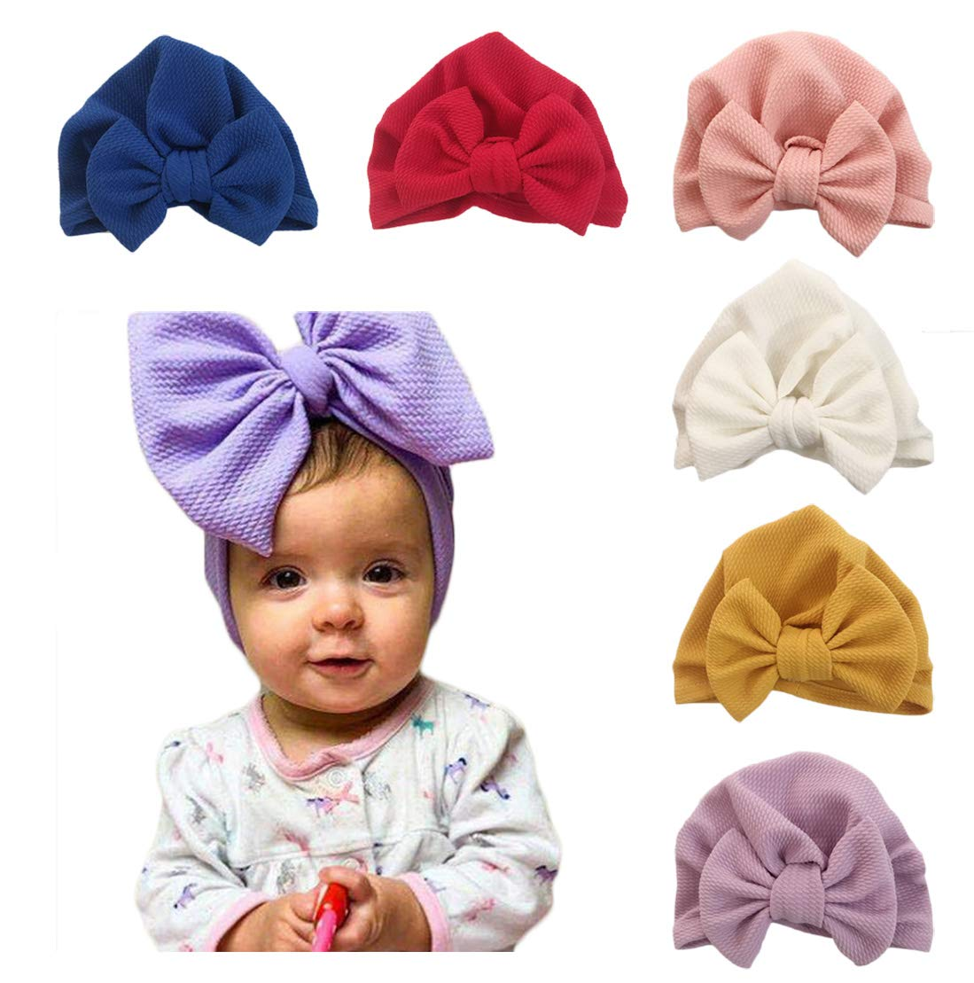 DANMY Baby Toddlers Turban Cotton