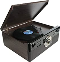 Cassette Record Player,dl Vintage Turntable with Bluetooth 2x5W Stereo Speaker Buit in CD & USB Encoding,EQ,Prog,FM,AUX in...