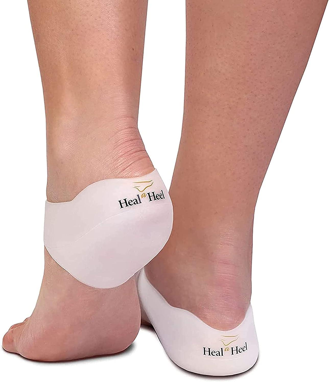 Heal A Heel Silicone Heal Cups (Medium)   Heel Cups for Cracked Heels   Natural Dry Heel Solution   Comfortable and Durable Heel Cup for Cracked Heel Treatment
