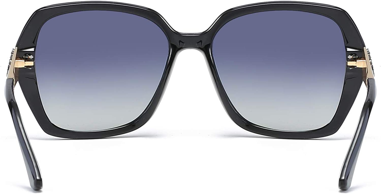 GRAFIT Classic Oversized Polarized Sunglasses Sparkling Composite Frame for Women 100/% UV Protection Outdoor Eyewear for Women/&Girls/&ladies