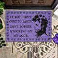 Springhall 24x35inch Outdoor Doormats, Prince Doormat with Letters, Retro Style Decor Doormat Entrance Rug Floor Mat - If You Didn't Come to Party Don't Bother Knocking On My Door