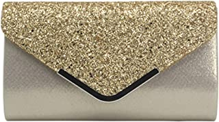 Women Evening Bags Fashion Sequins Bag Cocktail Party Chain Phone Evening Bag Pochette Clutch-In Top
