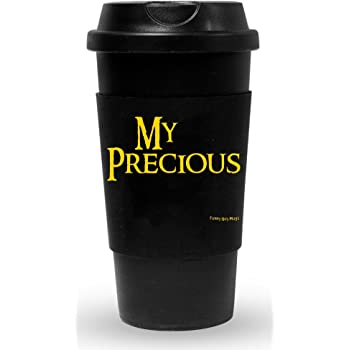 16-Ounce Funny Guy Mugs My Precious Travel Tumbler With Removable Insulated Silicone Sleeve Black