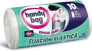 comprar comparacion Handy Bag Bolsas de Basura 10L Baño, Extra Resistentes, Elásticas, 15 Bolsas