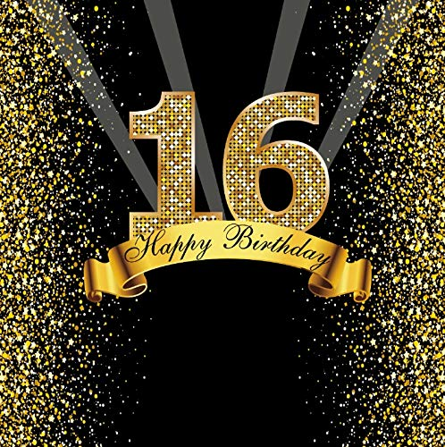 Happy Sweet Birthday Party Banner Gold Dot Party Banner Photo Background Photo Phone Photo Phone Photo Studio A24 3 x 3 m