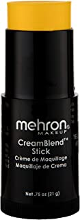Mehron Makeup CreamBlend Stick (.75 ounce) (Yellow)