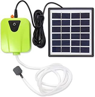 origin ソーラー充電式エアポンプ 太陽光充電で電源不要 USB充電対応 エア吐出量毎分2L 静音設計 持ち運び使用可 ポータブルエアポンプ 各種水槽の酸素供給に エアポンプ (グリーン) BSVAP03