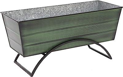 Achla Designs VFB-05-S Odette Medium Green Flower Planter Window Box with Stand