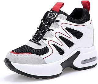 AONEGOLD Sneakers Zeppa Donna Scarpe da Ginnastica Sportive Fitness Scarpe con Zeppa Interna Tacco 7 cm