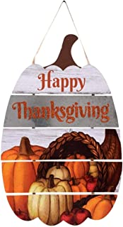 Fall Holiday Harvest Thanksgiving indoor home Decorative decorations Wall hanging Pumpkin (Bonus Color Your Own Ornament Crafter's Choice- 5 count) Pumpkin-Shaped Harvest Happy Thanksgiving Wall Decor