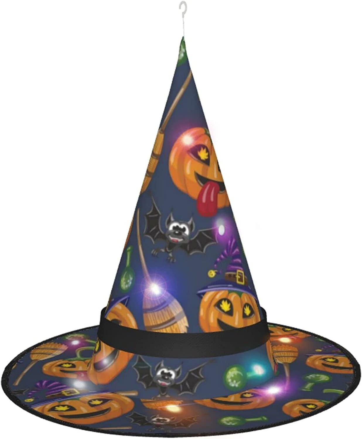 KQLH Jacksonville Mall Halloween Witch Large special price Hat With Hallo Costume For Accessory Light