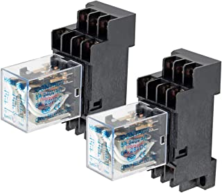 Electrical Buddy DPDT HH53P Coil 11Pin General Purpose Relay with PYF11A Socket DC 220V 2PCS