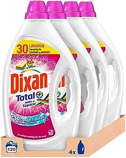 Dixan Detergente Líquido Adiós al Separar - Pack de 4, Total: 120 Lavados (6 L)