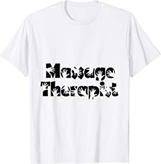 Funny Massage Therapist Gift I Work With My Hands Message T-Shirt