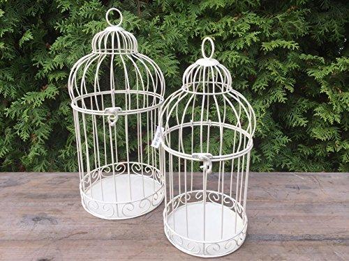 Dekowonderland, Gabbia decorativa per piante, gabbia per uccelli, in stile shabby anticato, decorazione per giardino e matrimonio