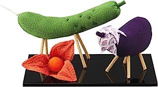 【お仏壇のはせがわ】 お盆飾り 日本製 ちりめん 牛馬飾り ほおずきセット お供え スタンダード 高さ6×台幅15×奥行10cm